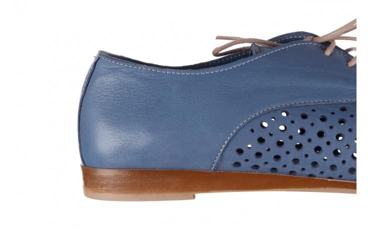 Półbuty bayla-161 138 80129 denim, niebieski, skóra naturalna - skórzane - półbuty - buty damskie - kobieta 7