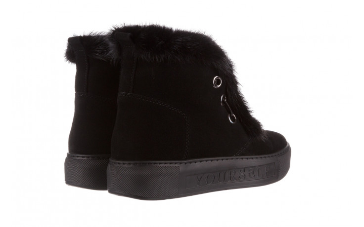 Śniegowce bayla 161 017 2032 black suede 161163, czarny, skóra naturalna  - trendy - kobieta 4