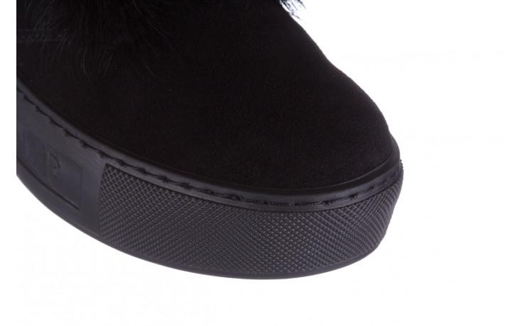 Śniegowce bayla 161 017 2032 black suede 161163, czarny, skóra naturalna  - trendy - kobieta 6
