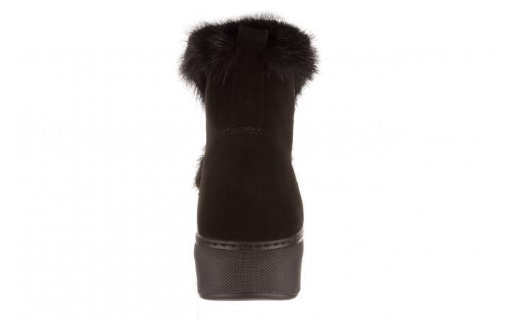 Śniegowce bayla 161 017 2032 black suede 161163, czarny, skóra naturalna  - trendy - kobieta 11