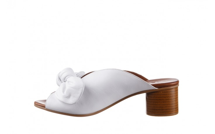 Klapki bayla-161 061 1029 white, biały, skóra naturalna  - klapki - dla niej  - sale 2