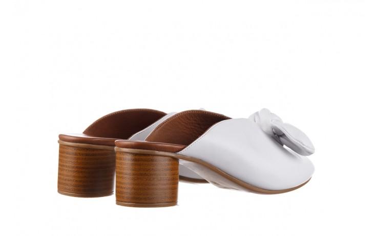 Klapki bayla-161 061 1029 white, biały, skóra naturalna  - klapki - dla niej  - sale 3