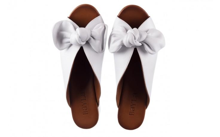 Klapki bayla-161 061 1029 white, biały, skóra naturalna  - klapki - dla niej  - sale 4