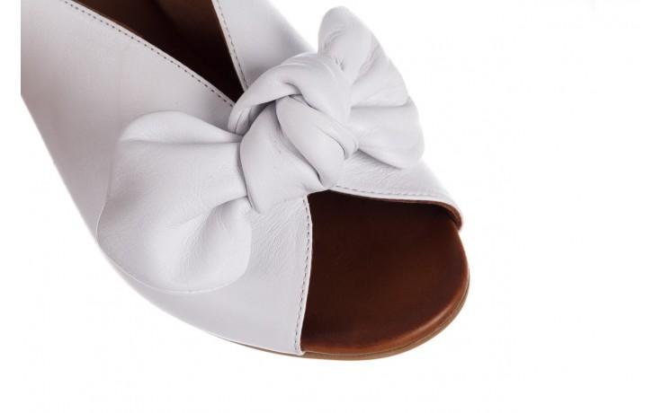 Klapki bayla-161 061 1029 white, biały, skóra naturalna  - klapki - dla niej  - sale 5