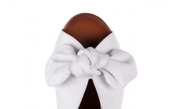 Klapki bayla-161 061 1029 white, biały, skóra naturalna  - klapki - dla niej  - sale 6
