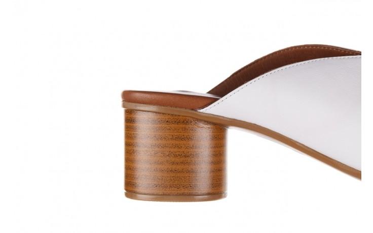 Klapki bayla-161 061 1029 white, biały, skóra naturalna  - klapki - dla niej  - sale 7