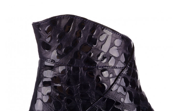 Botki bayla 161 050 0021 3024 navy print 161166, granat, skóra naturalna lakierowana  - buty zimowe - trendy - kobieta 8