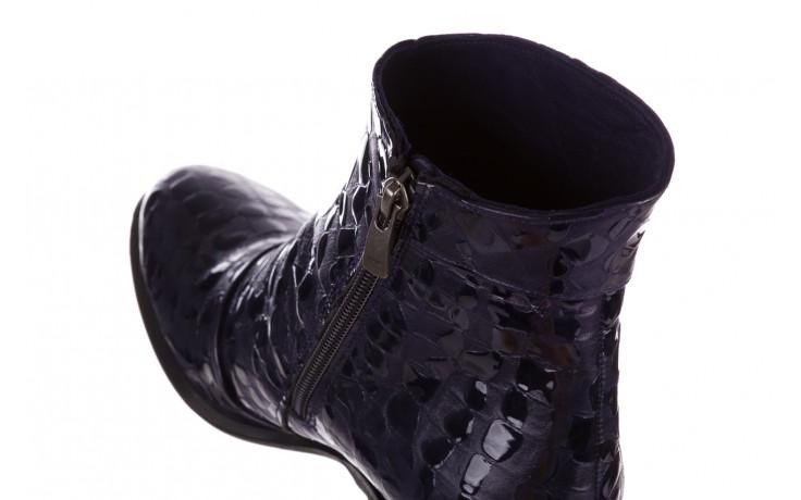 Botki bayla 161 050 0021 3024 navy print 161166, granat, skóra naturalna lakierowana  - buty zimowe - trendy - kobieta 9
