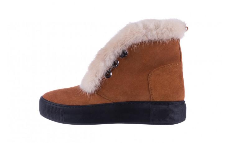 Śniegowce bayla 161 017 2032 105 tan suede 161162, brąz, skóra naturalna  - śniegowce - śniegowce i kalosze - buty damskie - kobieta 3