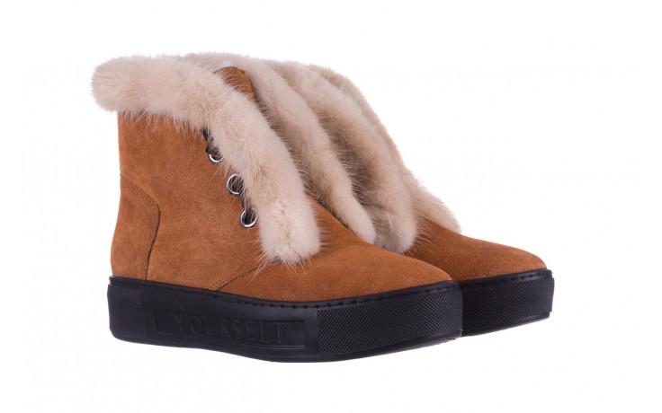 Śniegowce bayla 161 017 2032 105 tan suede 161162, brąz, skóra naturalna  - śniegowce - śniegowce i kalosze - buty damskie - kobieta 1