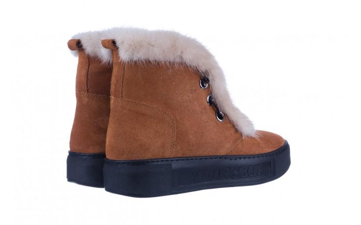 Śniegowce bayla 161 017 2032 105 tan suede 161162, brąz, skóra naturalna  - śniegowce - śniegowce i kalosze - buty damskie - kobieta 4