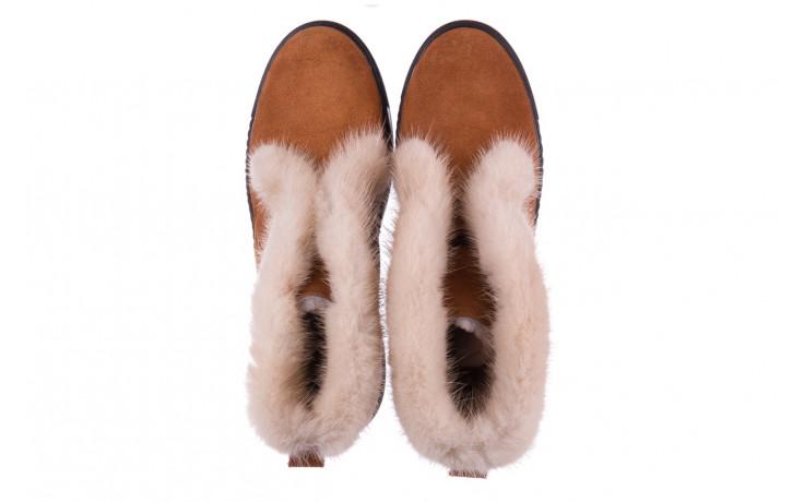 Śniegowce bayla 161 017 2032 105 tan suede 161162, brąz, skóra naturalna  - śniegowce - śniegowce i kalosze - buty damskie - kobieta 5