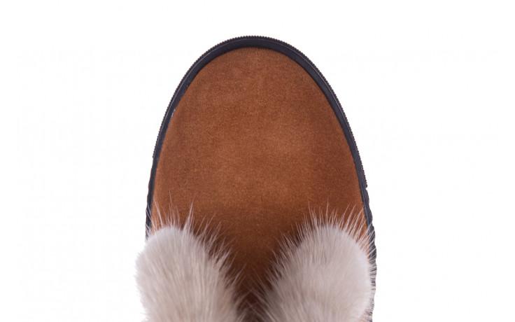 Śniegowce bayla 161 017 2032 105 tan suede 161162, brąz, skóra naturalna  - śniegowce - śniegowce i kalosze - buty damskie - kobieta 7