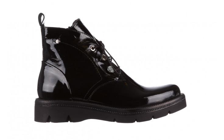 Trzewiki bayla 161 050 4006 400 black patent 161175, czarny, skóra naturalna lakierowana  - trzewiki - buty damskie - kobieta