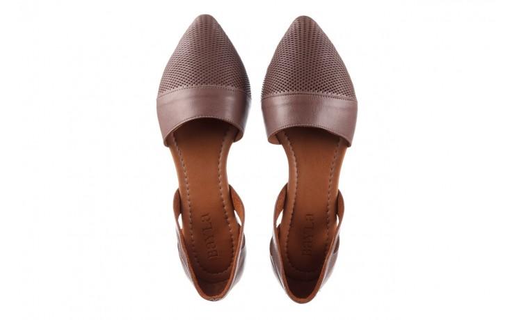 Baleriny bayla-161 074 205 hat, beż, skóra naturalna  - baleriny - buty damskie - kobieta 4
