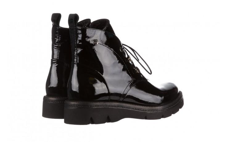 Trzewiki bayla 161 050 4006 400 black patent 161175, czarny, skóra naturalna lakierowana  - trzewiki - buty damskie - kobieta 4