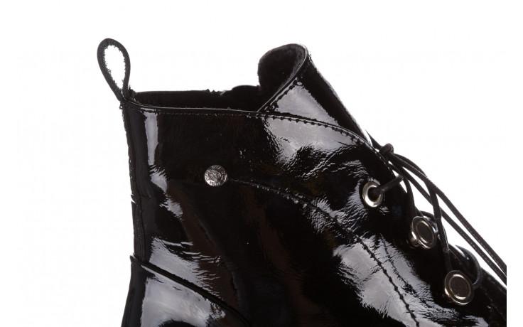 Trzewiki bayla 161 050 4006 400 black patent 161175, czarny, skóra naturalna lakierowana  - trzewiki - buty damskie - kobieta 7