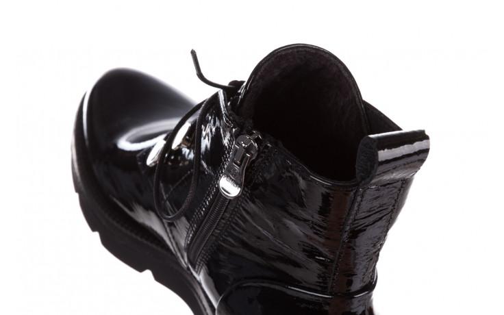Trzewiki bayla 161 050 4006 400 black patent 161175, czarny, skóra naturalna lakierowana  - trzewiki - buty damskie - kobieta 8
