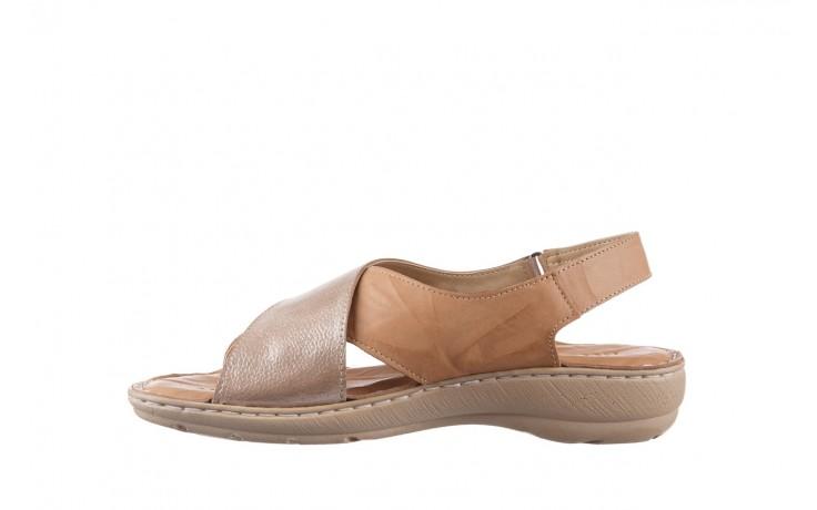 Sandały bayla-161 016 740 beige beige print, beż, skóra naturalna - płaskie - sandały - buty damskie - kobieta 2