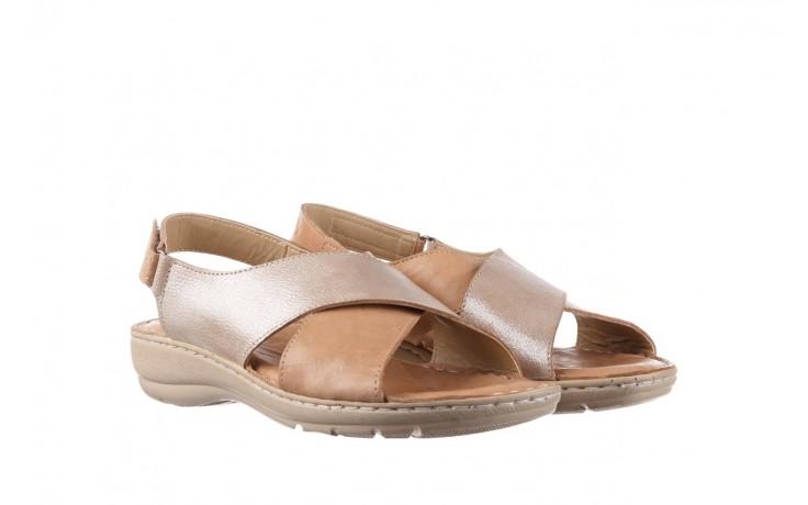 Sandały bayla-161 016 740 beige beige print, beż, skóra naturalna - płaskie - sandały - buty damskie - kobieta 1