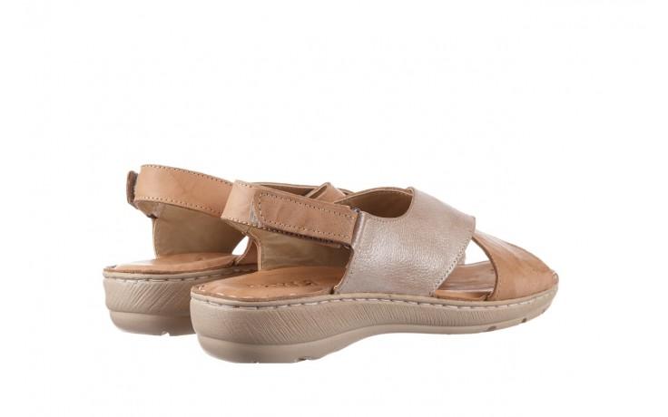 Sandały bayla-161 016 740 beige beige print, beż, skóra naturalna - płaskie - sandały - buty damskie - kobieta 3