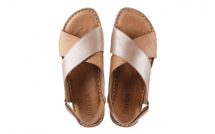 Sandały bayla-161 016 740 beige beige print, beż, skóra naturalna - płaskie - sandały - buty damskie - kobieta 4