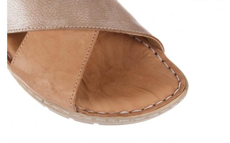 Sandały bayla-161 016 740 beige beige print, beż, skóra naturalna - płaskie - sandały - buty damskie - kobieta 6