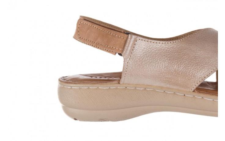 Sandały bayla-161 016 740 beige beige print, beż, skóra naturalna - płaskie - sandały - buty damskie - kobieta 7