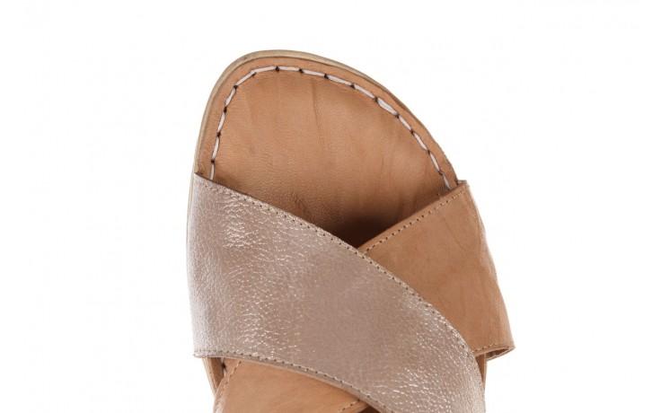 Sandały bayla-161 016 740 beige beige print, beż, skóra naturalna - płaskie - sandały - buty damskie - kobieta 5