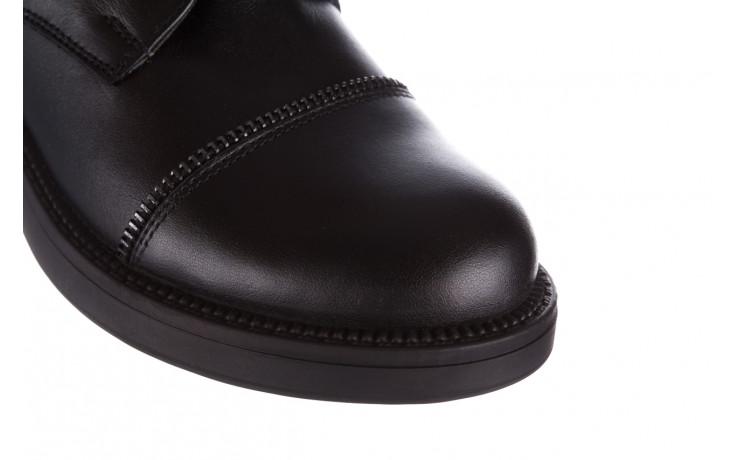 Trzewiki bayla 161 020 316 d1 black 161164, czarny, skóra naturalna  - trendy - kobieta 6