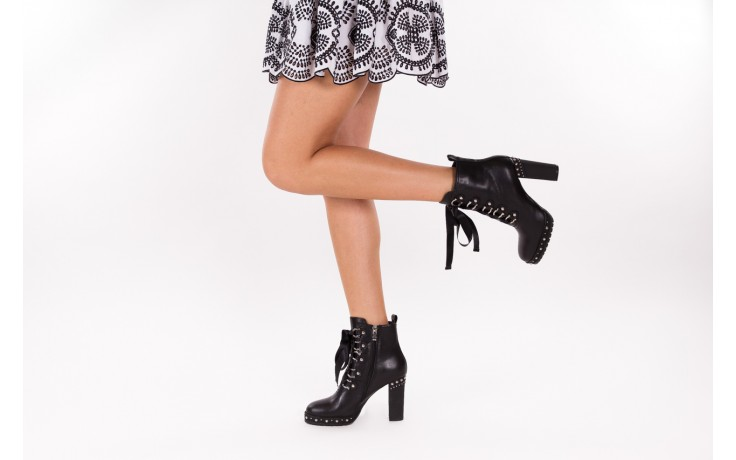 Botki bayla-144 9308 czarne botki 144020, skóra naturalna - worker boots - trendy - kobieta 3