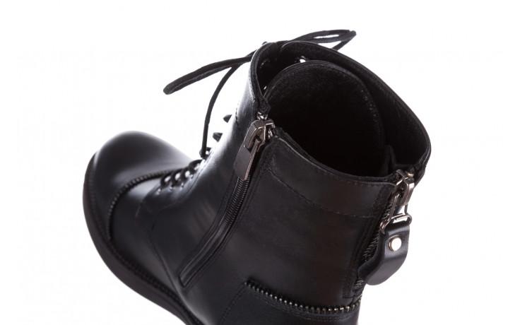 Trzewiki bayla 161 020 316 d1 black 161164, czarny, skóra naturalna  - trendy - kobieta 11