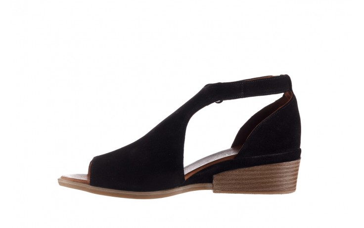 Sandały bayla-161 061 1612 black suede, czarny, skóra naturalna  - skórzane - sandały - buty damskie - kobieta 2