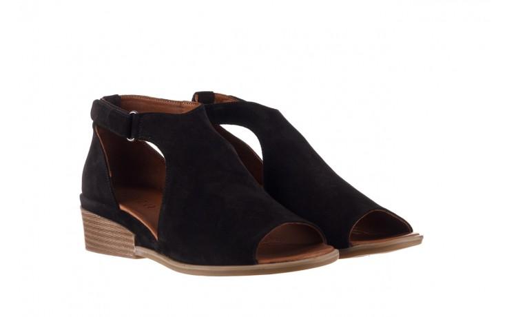 Sandały bayla-161 061 1612 black suede, czarny, skóra naturalna  - skórzane - sandały - buty damskie - kobieta 1