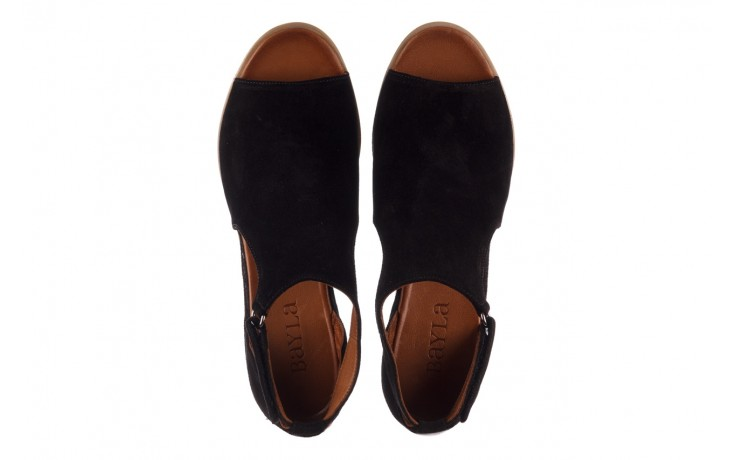 Sandały bayla-161 061 1612 black suede, czarny, skóra naturalna  - skórzane - sandały - buty damskie - kobieta 4