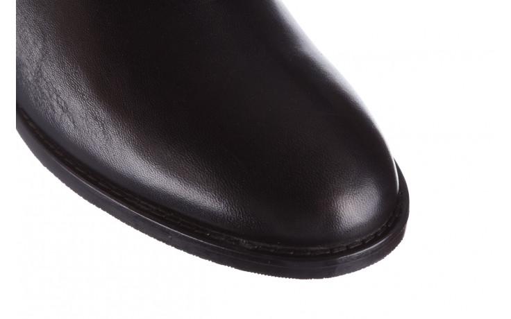 Botki bayla 161 077 47463 black 161182, czarny, skóra naturalna  - skórzane - botki - buty damskie - kobieta 6