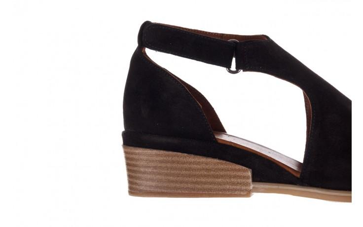 Sandały bayla-161 061 1612 black suede, czarny, skóra naturalna  - skórzane - sandały - buty damskie - kobieta 6