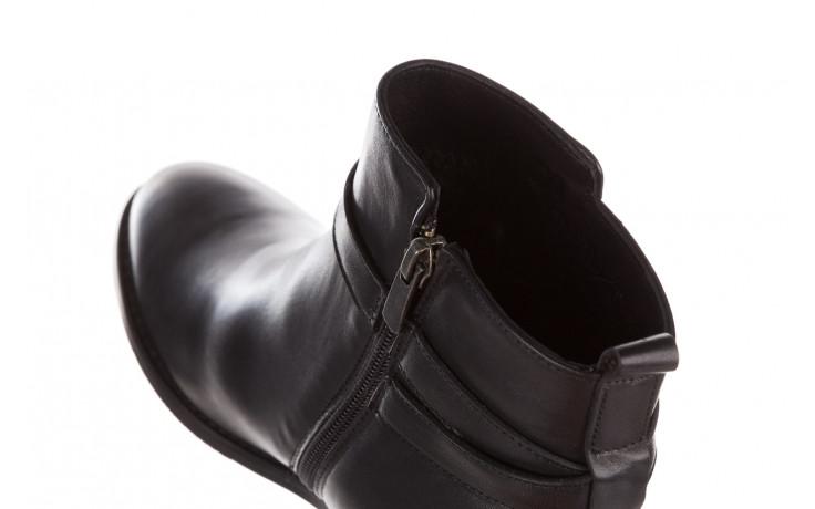 Botki bayla 161 077 47463 black 161182, czarny, skóra naturalna  - skórzane - botki - buty damskie - kobieta 7