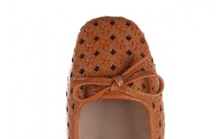 Baleriny bayla-161 093 388 4057 tan, brąz, skóra naturalna  - skórzane - baleriny - buty damskie - kobieta 7