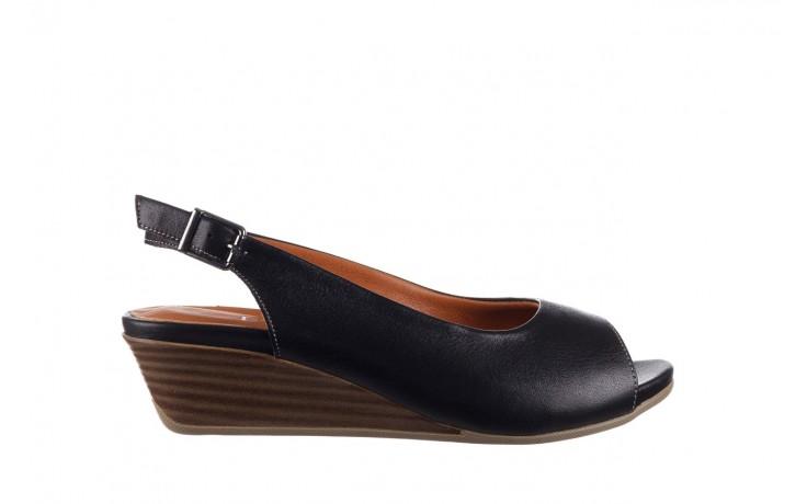 Sandały bayla-161 078 606 3 black, czarny, skóra naturalna  - na koturnie - sandały - buty damskie - kobieta