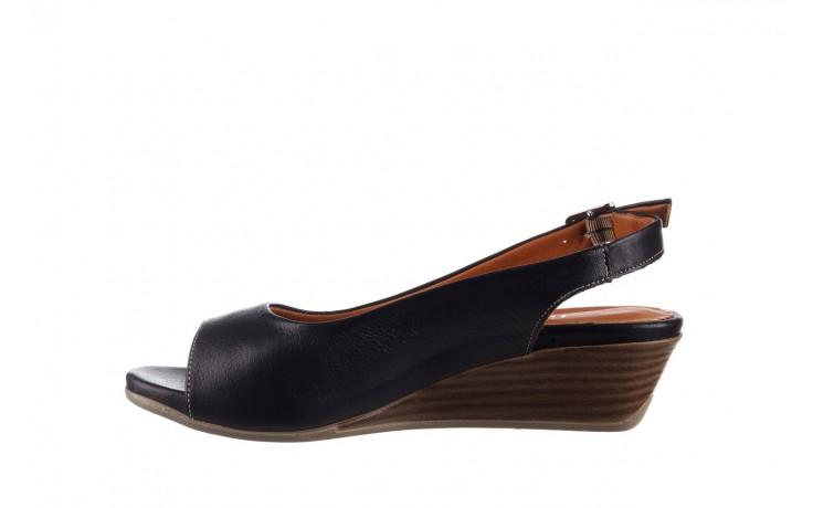 Sandały bayla-161 078 606 3 black, czarny, skóra naturalna  - na koturnie - sandały - buty damskie - kobieta 2