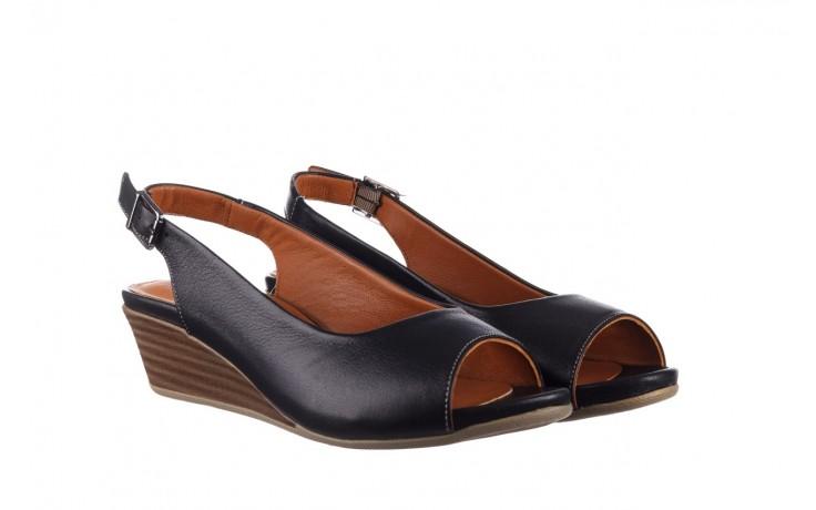 Sandały bayla-161 078 606 3 black, czarny, skóra naturalna  - na koturnie - sandały - buty damskie - kobieta 1