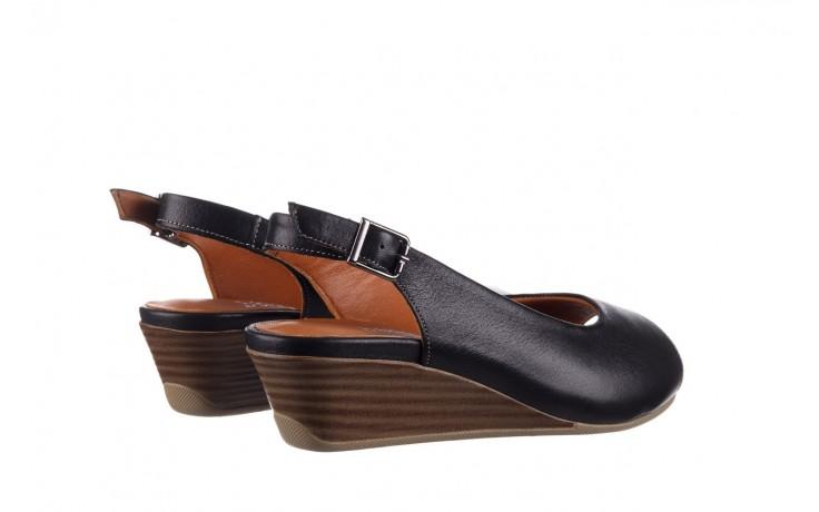 Sandały bayla-161 078 606 3 black, czarny, skóra naturalna  - na koturnie - sandały - buty damskie - kobieta 3