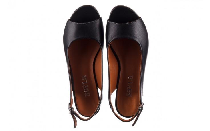 Sandały bayla-161 078 606 3 black, czarny, skóra naturalna  - na koturnie - sandały - buty damskie - kobieta 4