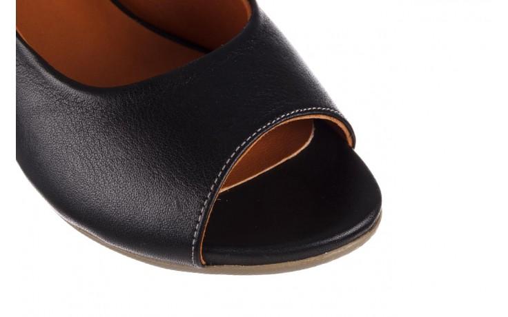 Sandały bayla-161 078 606 3 black, czarny, skóra naturalna  - na koturnie - sandały - buty damskie - kobieta 5