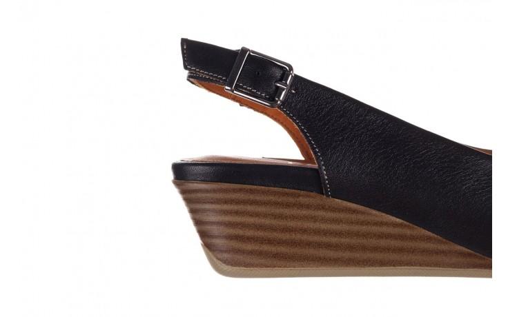 Sandały bayla-161 078 606 3 black, czarny, skóra naturalna  - na koturnie - sandały - buty damskie - kobieta 6