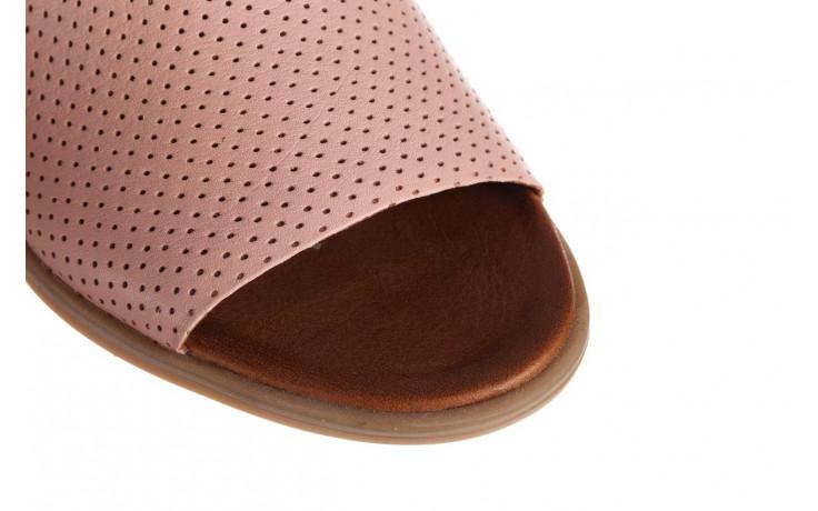 Klapki bayla-161 061 1609 cameo 21 161203, róż, skóra naturalna  - klapki - buty damskie - kobieta 5