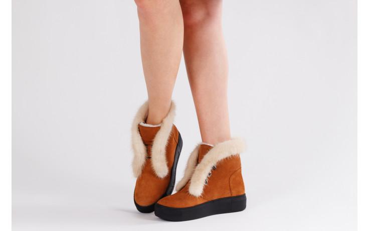 Śniegowce bayla 161 017 2032 105 tan suede 161162, brąz, skóra naturalna  - śniegowce - śniegowce i kalosze - buty damskie - kobieta 2