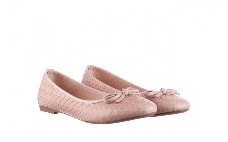 Baleriny bayla-161 093 388 6048 nude 161146, róż, skóra naturalna  - baleriny - dla niej  - sale 1