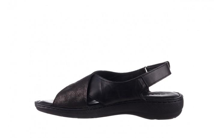 Sandały bayla-161 016 740 black black print, czarny, skóra naturalna - płaskie - sandały - buty damskie - kobieta 2